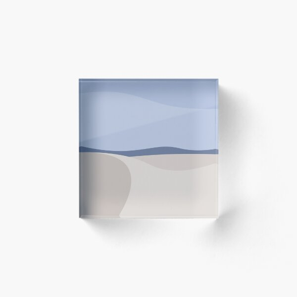 Minimalist White Sands Desert National Park New Mexico Acrylic Block