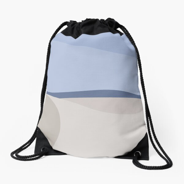 Minimalist White Sands Desert National Park New Mexico Drawstring Bag