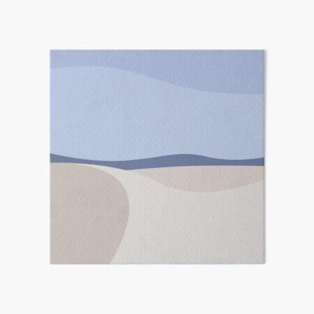 Minimalist White Sands Desert National Park New Mexico Art Board Print