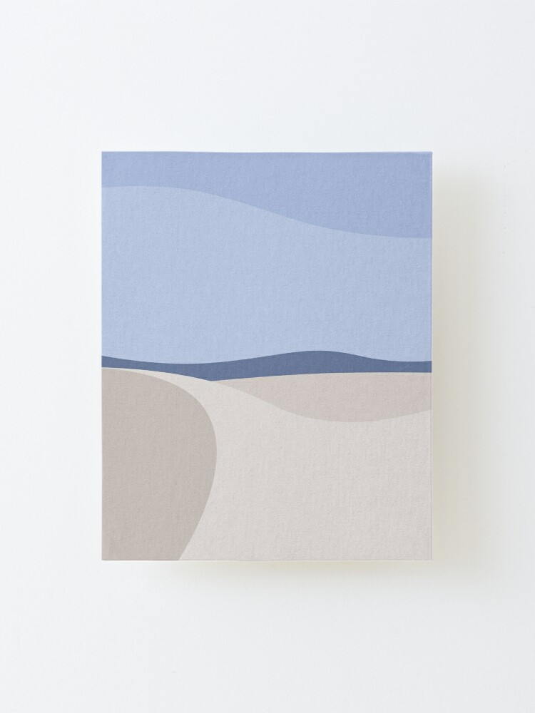Alternate view of Minimalist White Sands Desert National Park New Mexico Mounted Print