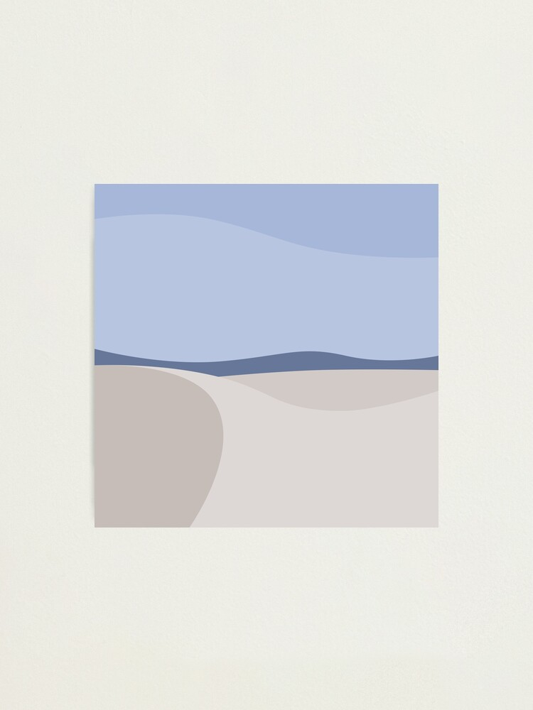 Alternate view of Minimalist White Sands Desert National Park New Mexico Photographic Print