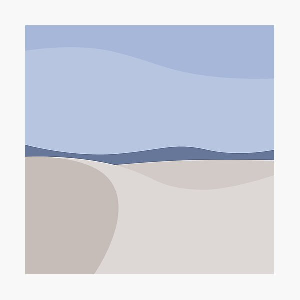 Minimalist White Sands Desert National Park New Mexico Photographic Print