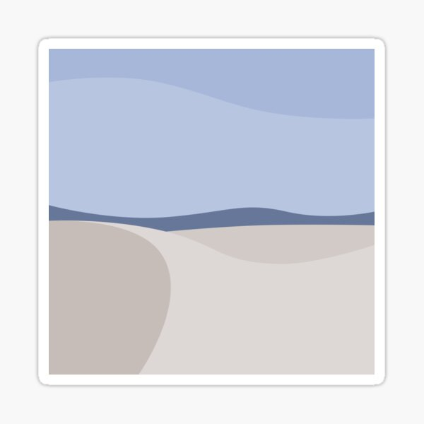 Minimalist White Sands Desert National Park New Mexico Sticker