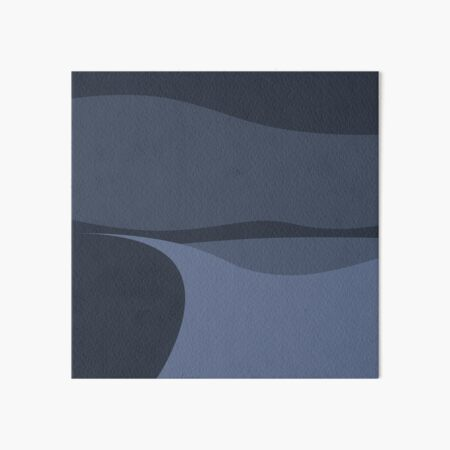 Minimalist White Sands Desert National Park New Mexico at Night Art Board Print