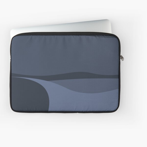 Minimalist White Sands Desert National Park New Mexico at Night Laptop Sleeve