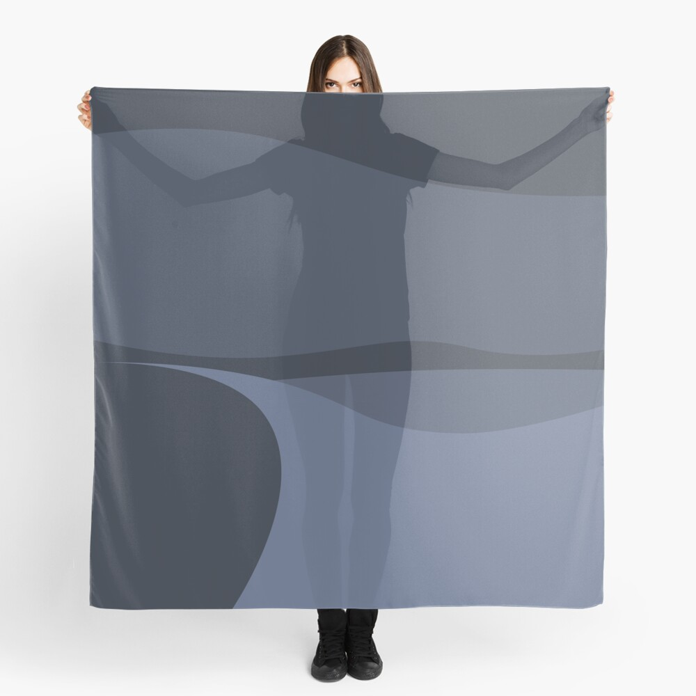 Minimalist White Sands Desert National Park New Mexico at Night Scarf