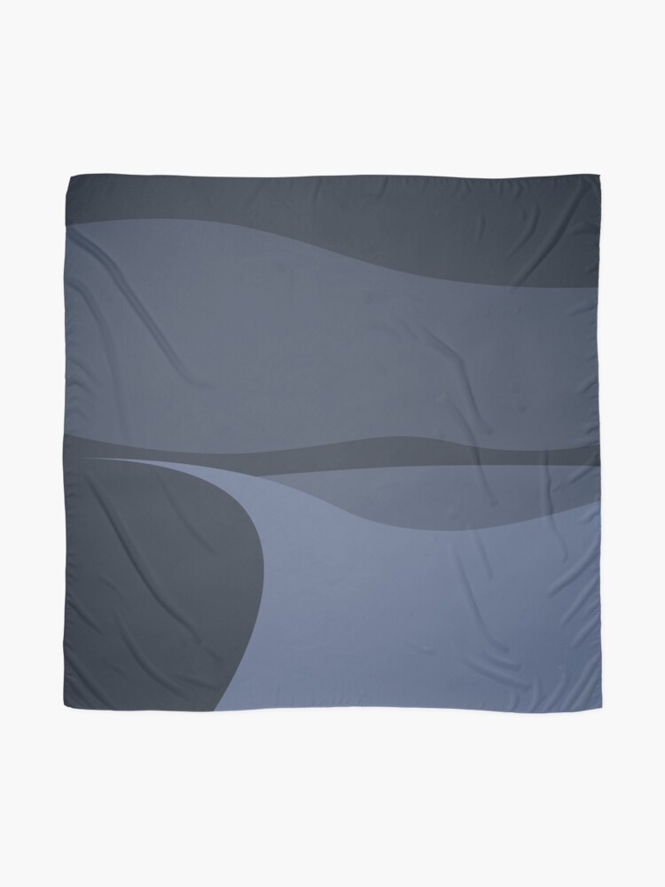 Alternate view of Minimalist White Sands Desert National Park New Mexico at Night Scarf