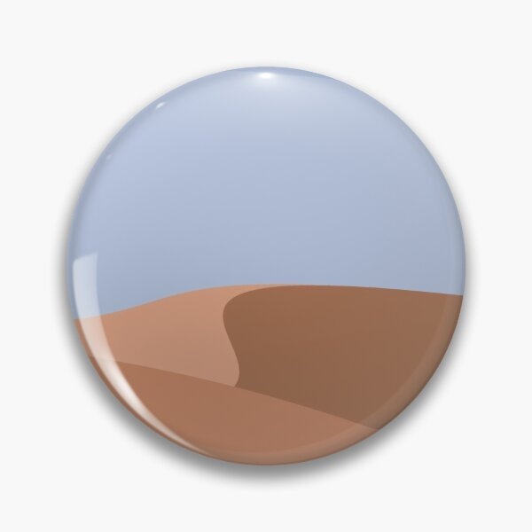 Minimalist Orange Sand Dune Desert Pin