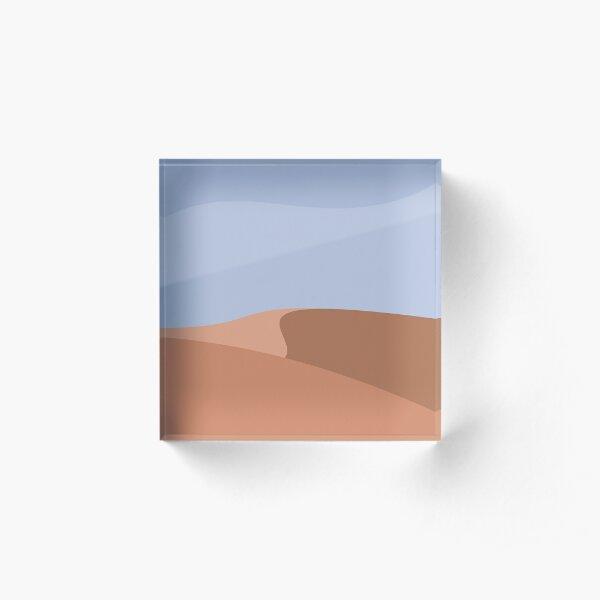 Minimalist Orange Sand Dune Desert Acrylic Block