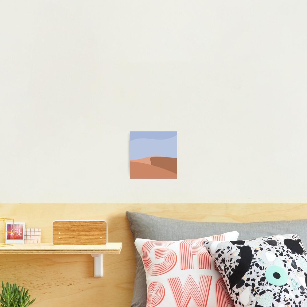 Minimalist Orange Sand Dune Desert Photographic Print