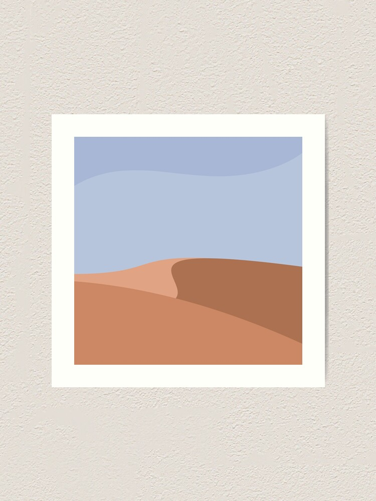 Alternate view of Minimalist Orange Sand Dune Desert Art Print