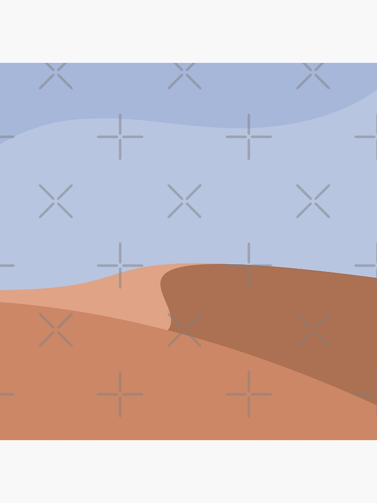Minimalist Orange Sand Dune Desert by RyanDraws