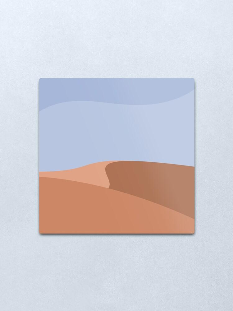 Alternate view of Minimalist Orange Sand Dune Desert Metal Print