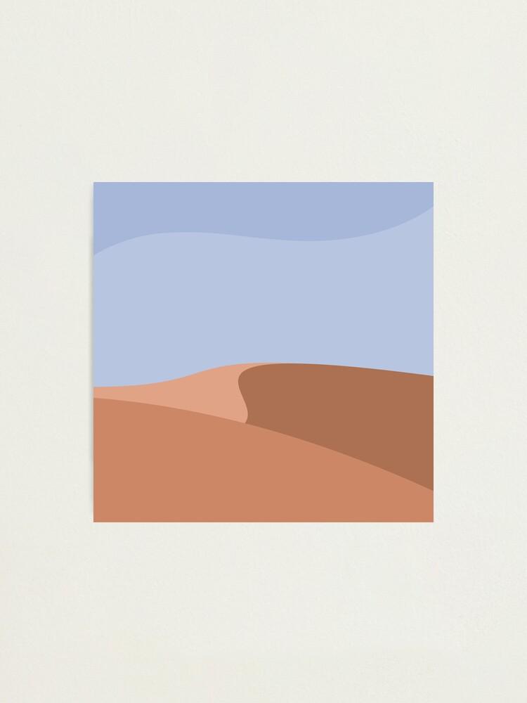 Alternate view of Minimalist Orange Sand Dune Desert Photographic Print