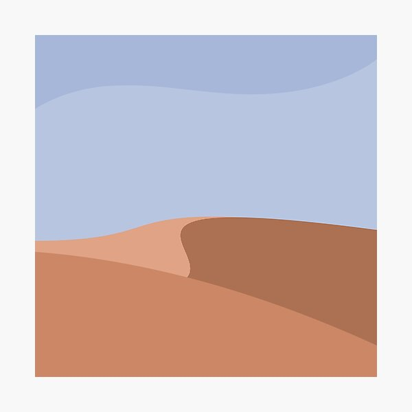 Minimalist Orange Sand Dune Desert Photographic Print