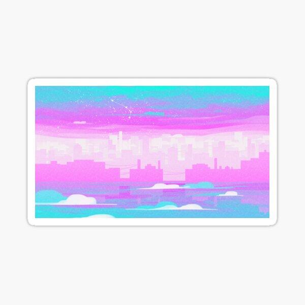 Pride Skies (Trans 2) Sticker