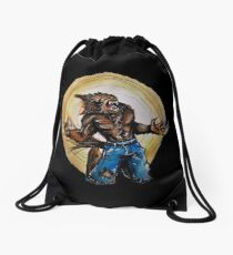Werewolf Drawstring Bag