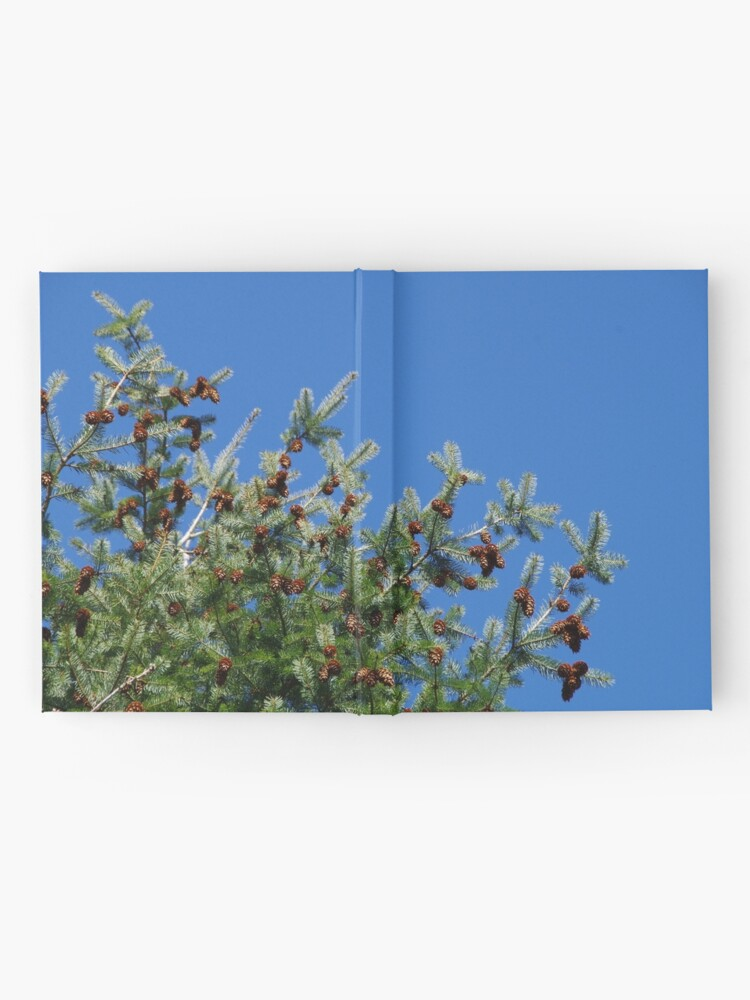 Alternate view of Fir Tree Against the Deep Blue Sky Hardcover Journal