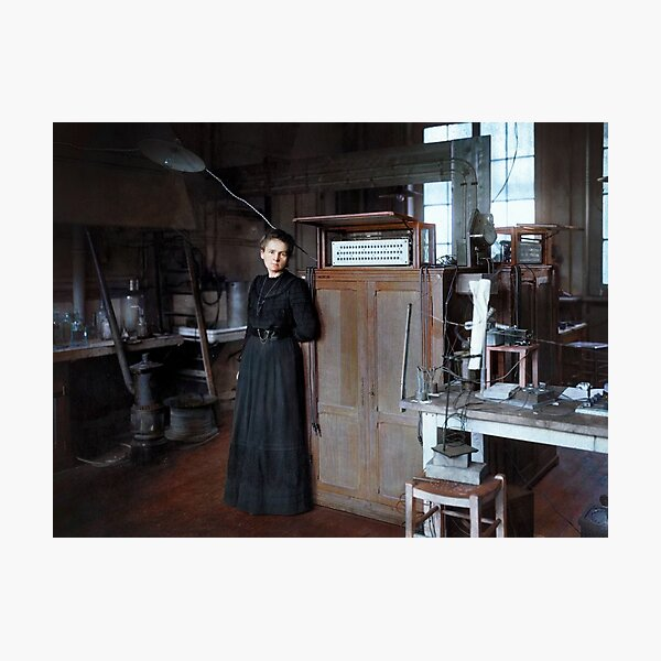 Marie Curie in her laboratory in Paris, 1912 Photographic Print