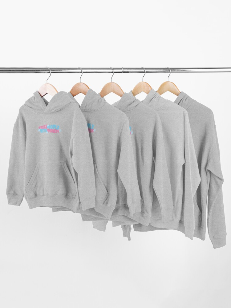 Alternate view of pink and blue tpwk Kids Pullover Hoodie