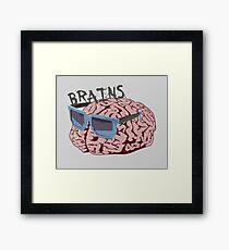 Cool Brains Framed Print