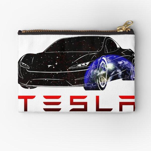 Tesla car Earth Zipper Pouch
