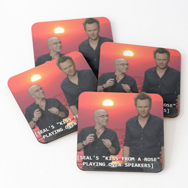 Kiss from a Rose Coasters (Set of 4)