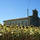 Sunflower church by graceloves
