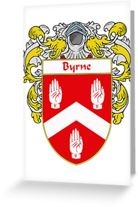 Byrne Coat of Arms/Family Crest by William Martin