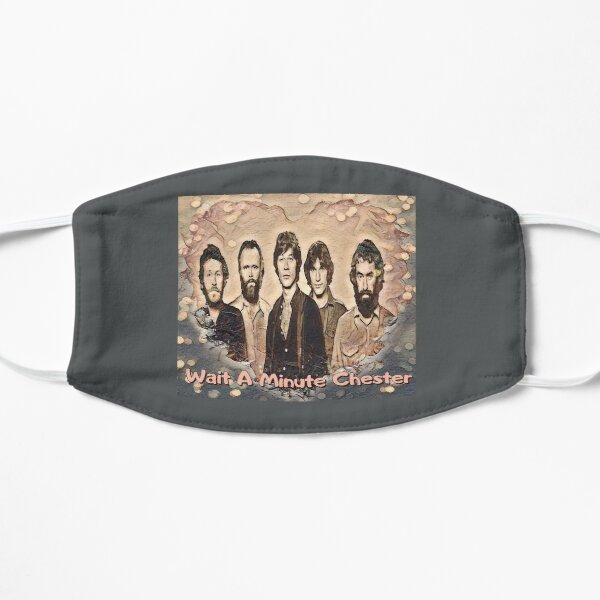 wait a minute chester Flat Mask