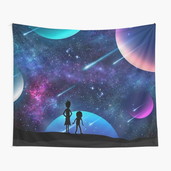 Rick and Morty Galaxy Space Star Gazing Tapestry