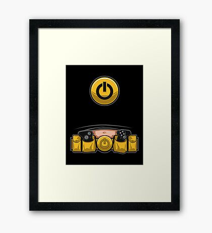 Super Geek Utility Belt Framed Print