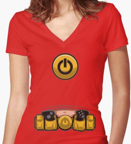 Super Geek Utility Belt Women's Fitted V-Neck T-Shirt