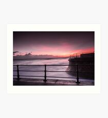 Filey Tidal Surge - Long exposure. Art Print