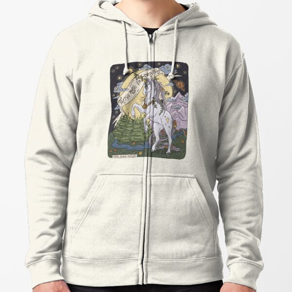 There's Magic in Everything Zipped Hoodie