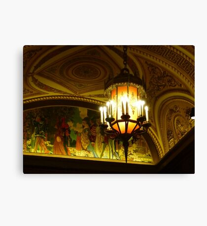 Lights of an old theatre Canvas Print