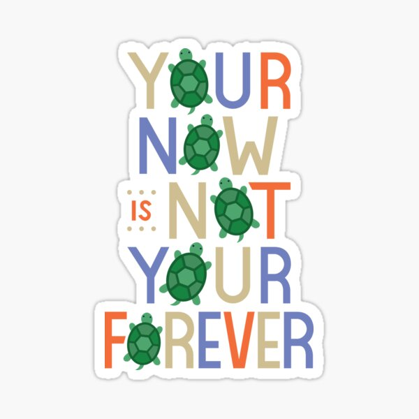 Your Now is Not Your Forever Sticker