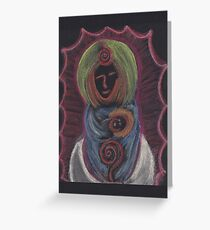 Goddess - Mary with child Greeting Card
