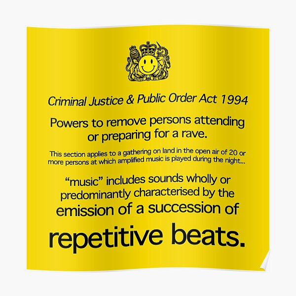 Acid House: Emission of a Succession of Repetitive Beats Poster