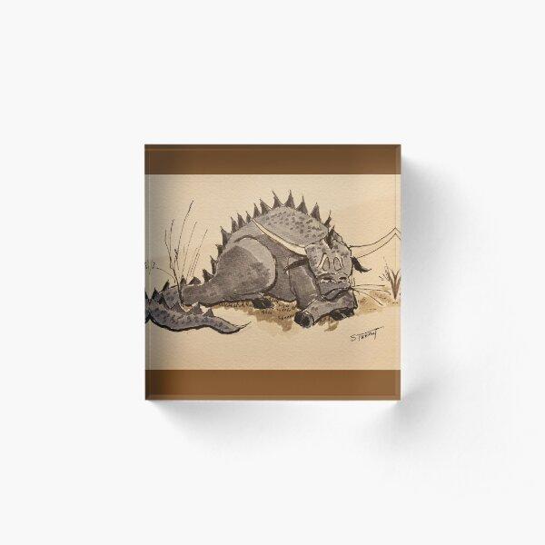 Sleeping Chimera, Bull-Dragon Acrylic Block