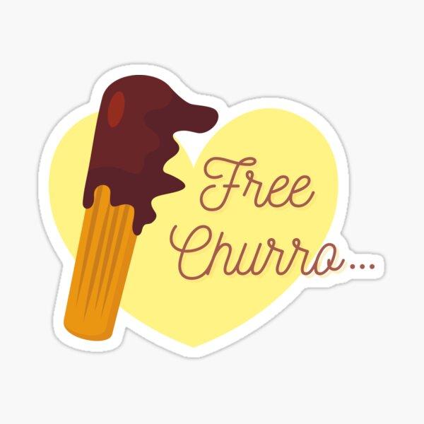 Churro gratis Pegatina