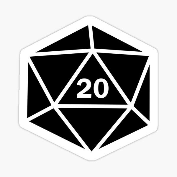 Twenty Sided Die Sticker