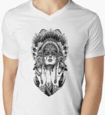 PORTRAIT001 Men's V-Neck T-Shirt