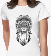 PORTRAIT001 Womens Fitted T-Shirt