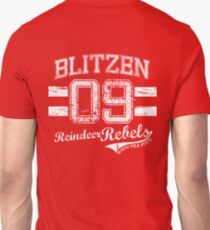 Blitzen Reindeer Rebel T-Shirt