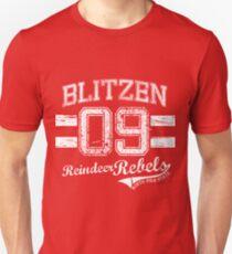 Blitzen Reindeer Rebel Unisex T-Shirt