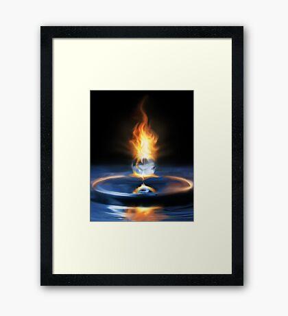 Fire Drop Framed Print