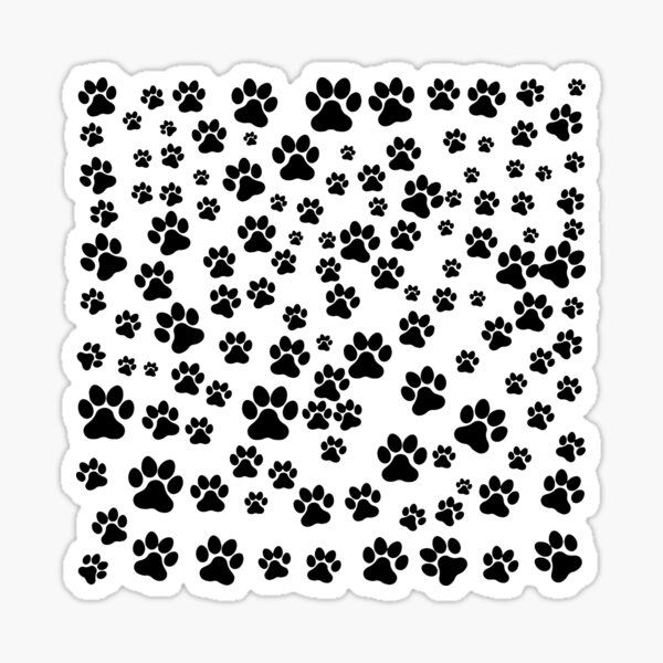 Heart touching cute puppies and kittens paws design - dog lovers, cat lovers and all animal lovers specially pet lovers Sticker