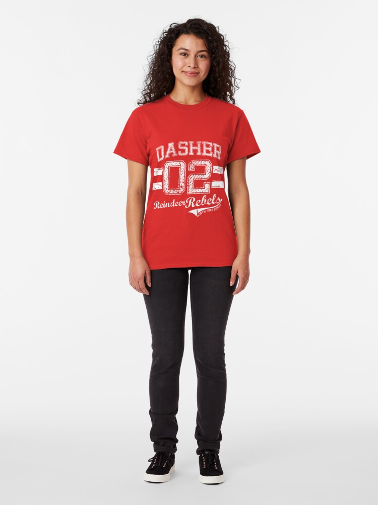Alternate view of Dasher Reindeer Rebels Classic T-Shirt