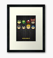 Minimalist Posters: Kick-Ass 2 Framed Print